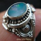 Silver Australian Opal Locket Ring LR-311-KT