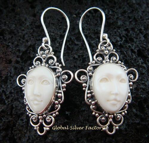 Sterling Silver Goddess Earrings GDE-919-NY