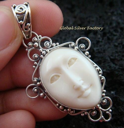 Sterling Silver Bali Goddess Pendant GDP-921-NY