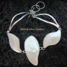 Sterling Silver White Shell Bracelet SBB-322-KT
