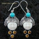 Sterling Silver & Mixed Gems Goddess Earrings GDE-909-KA