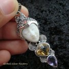 Sterling Silver & Mixed Gems Goddess Pendant GDP-940-PS