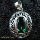 Sterling Silver & Green Quartz Designer Pendant SP-436-KT