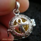 925 Silver Christian Cross Harmony Ball Pendant HB-305-KT