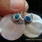 925 Silver Opal & Round Shell Earrings ER-528-KT