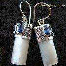 925 Silver Blue Sapphire & Shell Earrings ER-524-KT