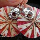 925 Silver Garnet & Shell Earrings ER-544-KT