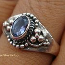 Sterling Silver Amethyst Gemstone Ring RI-285-KT