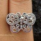 Sterling Silver Filigree Butterfly Ring SR-126-KT