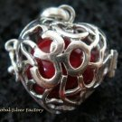 Sterling Silver Heart Harmony Ball Pendant HB-302-KT