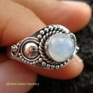 925 Silver Rainbow Moonstone Ring RI-280-KT