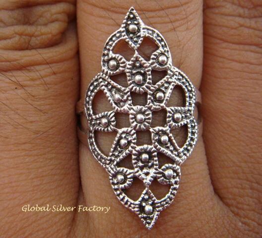 Sterling Silver Bali Filigree Women Ring SR-125-KT