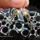 925 Silver Peridot & Shell Earrings ER-545-KT