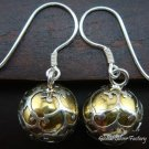925 Silver Gold Filigree Chime Ball Earrings CBE-118-KT