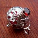 925 Silver Pink Frangipani Harmony Ball Pendant HB-115-KT