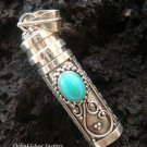 Sterling Silver Turquoise Perfume Bottle Pendant PP-131-NY
