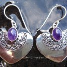 925 Silver & Amethyst Heart Shape Earrings ER-312-NY