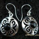 925 Silver & Black Onyx Earrings ER-447-NY