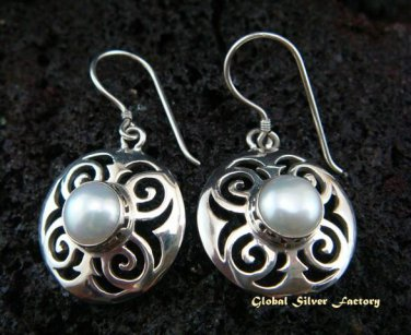 925 Silver & Pearl Gemstone Earrings ER-444-NY