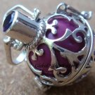 925 Silver Amethyst Harmony Ball Pendant HB-182-KT