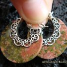 925 Silver & Round Ocean Jasper Earrings ER-555-KT