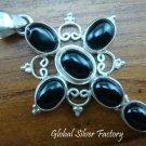 925 Silver Black Onyx Cross Pendant SP-291-NY