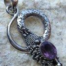925 Silver Amethyst Snake Pendant SP-251-NY