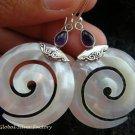 925 Silver Amethyst & Shell Earrings ER-515-KT
