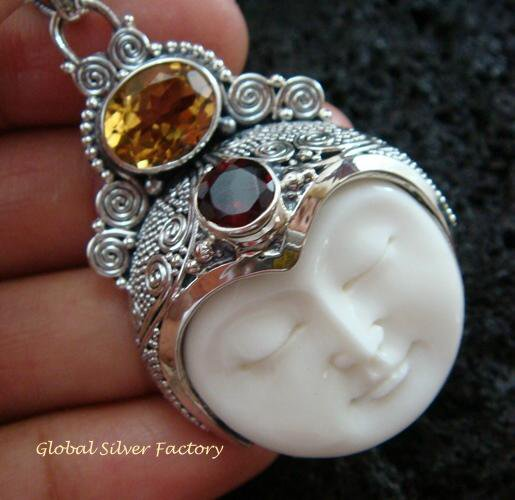 Sterling Silver & Mixed Gems Goddess Pendant GDP-995-PS