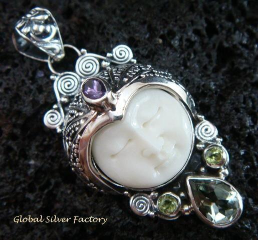 925 Silver & Multi Gems Goddess Pendant GDP-981-PS