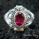 Silver Ruby Locket Ring LR-314-KT