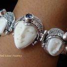 Sterling Silver & Amethyst Three Face Goddess Bracelet GDB-1012-KT