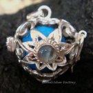 Silver Moonstone Flower Heart Harmony Ball Pendant HB-228-KT