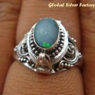 925 Silver Opal Poison Ring LR-397-KT