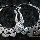 Sterling Silver Hoop Earrings SE-159-KT