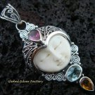 Sterling Silver Mixed Gems Goddess Pendant GDP-834-PS
