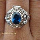 925 Silver & Blue Sapphire Poison Ring LR-419-KT