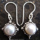 925 Silver Round white Pearl Earrings ER-298-NY