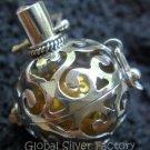925 Silver Amethyst Harmony Ball Pendant 16mm HB-214-KT