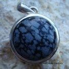 Silver Obsidian Round Pendant SP-268-NY