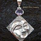 925 Silver Amethyst Buddha Pendant SP-496-KT