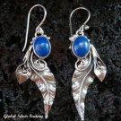 Silver Leaf & Lapis Lazuli Earrings ER-562-NY