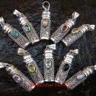 10x Wholesale Silver & Gems Cremation Pendant SSB-285-GSF