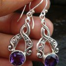 Sterling Silver Amethyst Earrings ER-585-PS