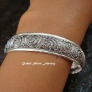 Sterling Silver Women's Bangle SBB-343-PS