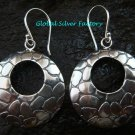 Sterling Silver Round Fancy Earrings SE-187-KT