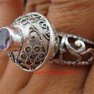 Sterling Silver Amethyst Chime Ball Ring CH-334-KA