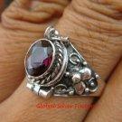 Sterling Silver Poison Keepsake Locket Ring w/Gem LR-622-KT