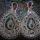 Sterling Silver Ornate Filigree Dangle Earrings SE-191-KT