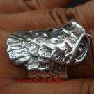 Large Sterling Silver Owl Design Unisex Ring SR-142-KT